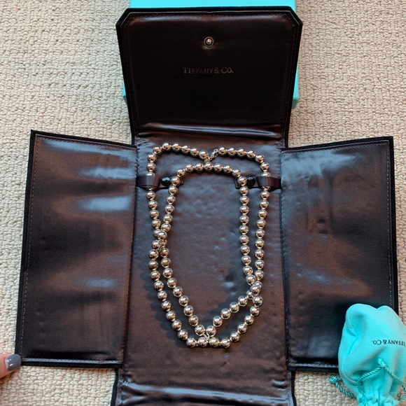 Tiffany & Co. Long Sterling Silver Ball Necklace